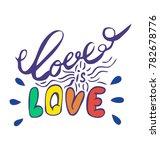 vector hand drawn lettering ... | Shutterstock .eps vector #782678776