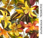 tropical pattern spring floral... | Shutterstock . vector #782681932