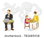 secondhand smoke issue   public ...   Shutterstock .eps vector #782685418