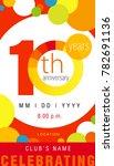 10 years anniversary chart... | Shutterstock .eps vector #782691136