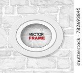 oval white wooden frame mockup...   Shutterstock .eps vector #782693845