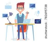 designer vector character.... | Shutterstock .eps vector #782695738