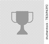 trophy cup vector icon eps 10. | Shutterstock .eps vector #782696392