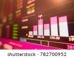 red stock exchange market graph ... | Shutterstock . vector #782700952
