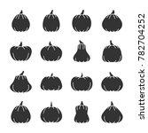 halloween pumpkin black... | Shutterstock . vector #782704252