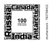 100 biggest countries word... | Shutterstock .eps vector #782708422