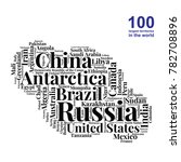 100 biggest countries word... | Shutterstock .eps vector #782708896