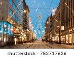 helsinki  finland. night view... | Shutterstock . vector #782717626