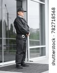 male security guard standing... | Shutterstock . vector #782718568