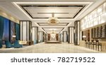 3d render of luxury hotel lobby | Shutterstock . vector #782719522