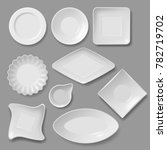 food plates set | Shutterstock .eps vector #782719702