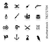 icons set pirates | Shutterstock .eps vector #78272704