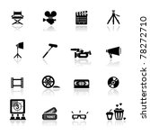 icons set cinema and movies | Shutterstock .eps vector #78272710