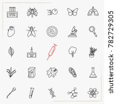 biology line icons set | Shutterstock .eps vector #782729305