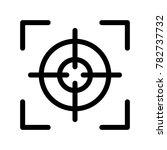 the focus icon. vector. | Shutterstock .eps vector #782737732