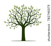 green tree with leaves. vector... | Shutterstock .eps vector #782740375