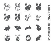 rabbit icon set | Shutterstock .eps vector #782744896