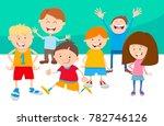 cartoon illustration of funny... | Shutterstock .eps vector #782746126