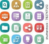flat vector icon set   search... | Shutterstock .eps vector #782747152