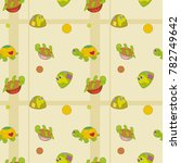bright pattern with turtle for... | Shutterstock .eps vector #782749642
