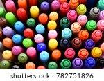 a lot of different ballpoint... | Shutterstock . vector #782751826