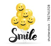 smile yellow balloons background | Shutterstock .eps vector #782761528