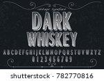 vintage font alphabet...   Shutterstock .eps vector #782770816