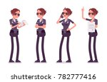 young policewoman  female... | Shutterstock .eps vector #782777416