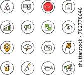 line vector icon set  ... | Shutterstock .eps vector #782778646
