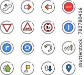 line vector icon set  ... | Shutterstock .eps vector #782780416