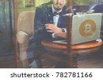 blockchain technology. bad news ...   Shutterstock . vector #782781166