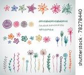 vector set of sketched garden... | Shutterstock .eps vector #78278440