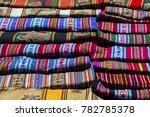 selection of hand woven costume ... | Shutterstock . vector #782785378