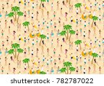 isometrics seamless background  ... | Shutterstock .eps vector #782787022
