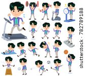 90's fashion man_sports  ... | Shutterstock .eps vector #782789188