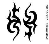 tattoo tribal vector design.... | Shutterstock .eps vector #782792182