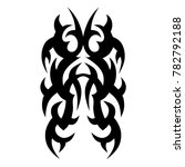 tattoo tribal vector design.... | Shutterstock .eps vector #782792188