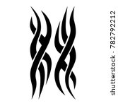 tattoo tribal vector design.... | Shutterstock .eps vector #782792212