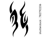 tattoo tribal vector design.... | Shutterstock .eps vector #782792236