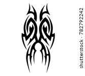 tattoo tribal vector design.... | Shutterstock .eps vector #782792242
