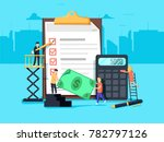 payroll. expenses  salary... | Shutterstock .eps vector #782797126