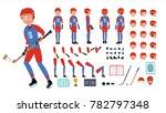 ice hockey player vector.... | Shutterstock .eps vector #782797348