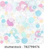 seamless vector floral pattern... | Shutterstock .eps vector #782798476