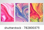 three backgrounds with marbling.... | Shutterstock .eps vector #782800375