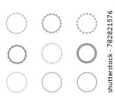 set of round decorative borders.... | Shutterstock .eps vector #782821576