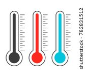meteorological thermometer... | Shutterstock .eps vector #782831512