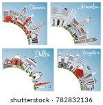 chennai  mumbai  delhi and... | Shutterstock .eps vector #782832136