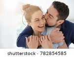 cheerful romantic couple of... | Shutterstock . vector #782854585