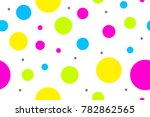seamless pattern with colorful... | Shutterstock .eps vector #782862565