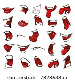 vector illustration of a set of ... | Shutterstock .eps vector #782863855